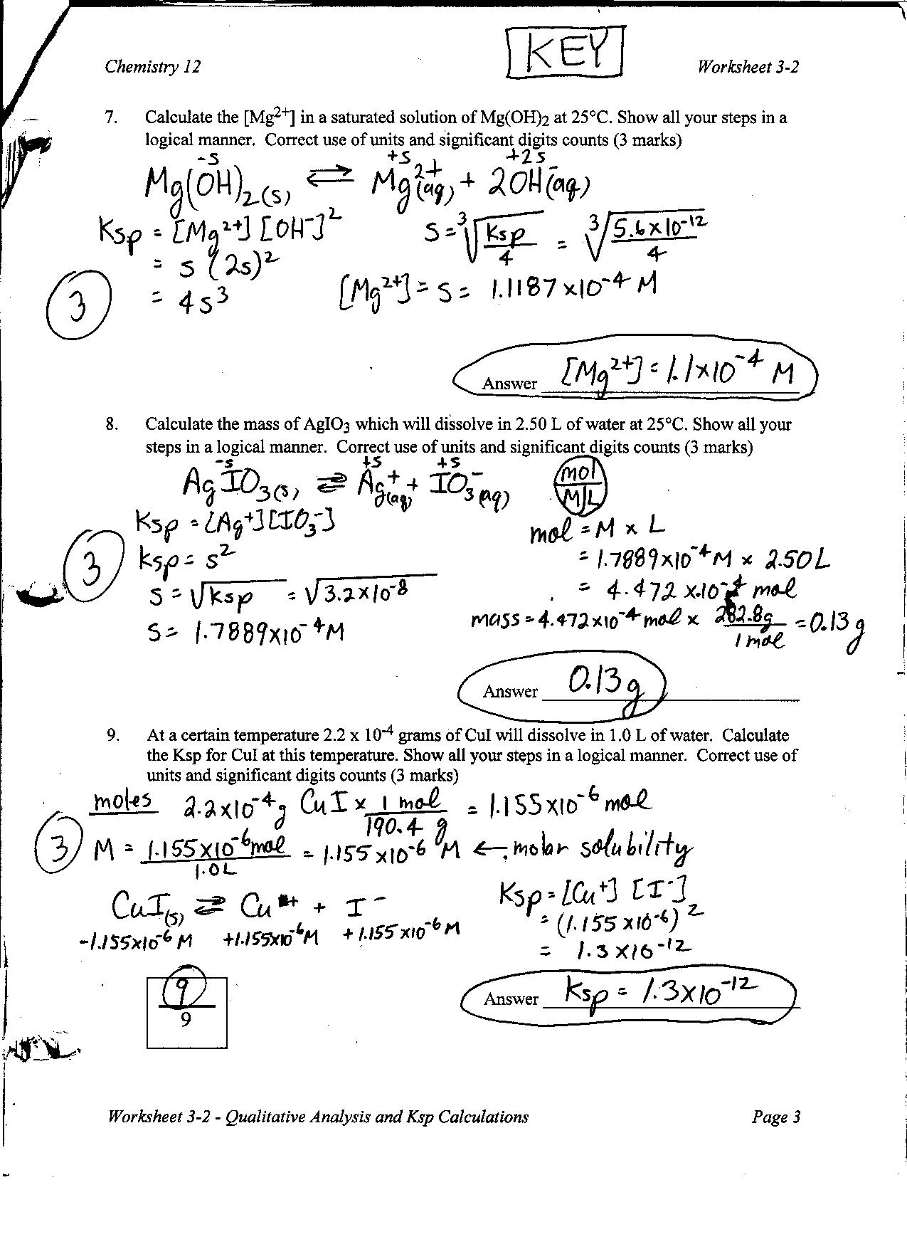 Concentration Calculations Worksheet