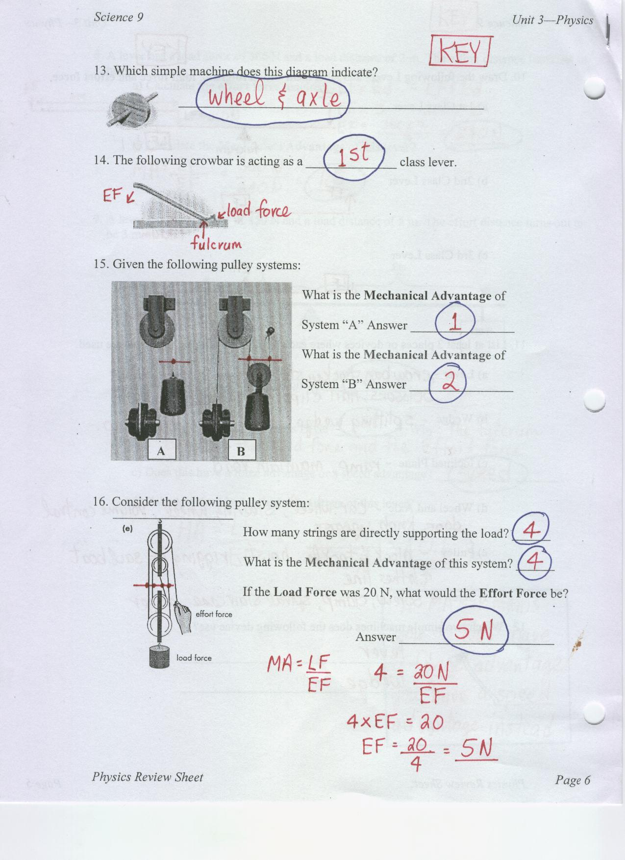 Mechanical Universe Worksheet Answers