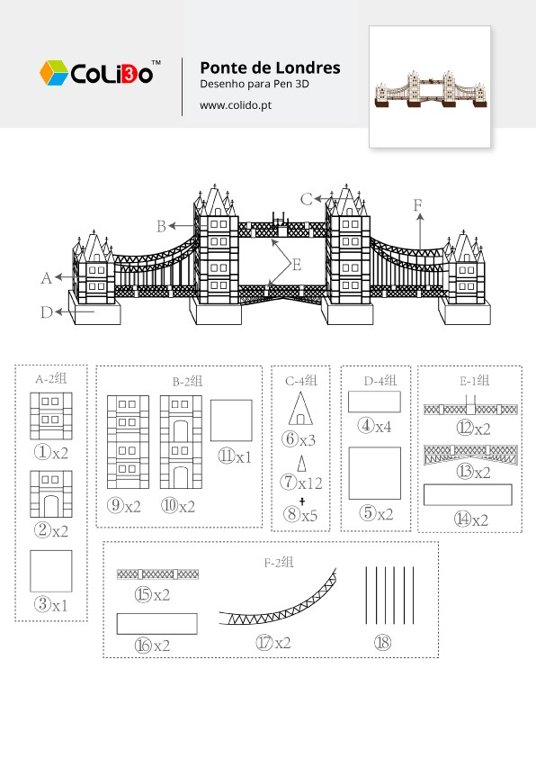 CoLiDo-3d-pen-modelo-ponte-londres