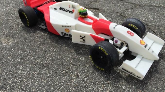 Carro RC McLaren MP4 / 8 Fórmula 1 RS-01 De Ayrton Senna 1993
