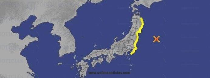 tsunami golpea costa de Japón