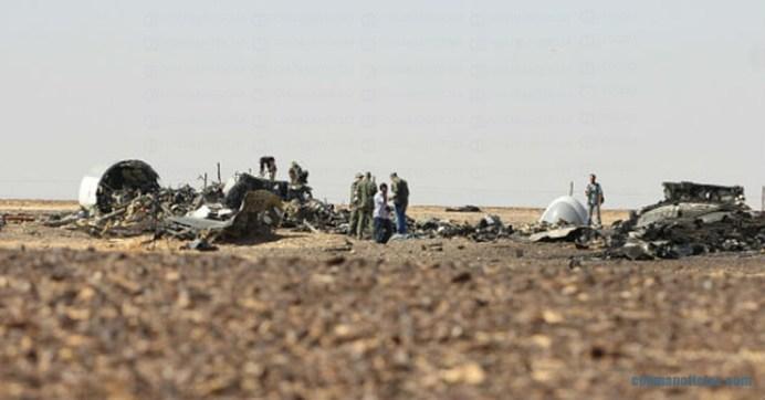 accidente aéreo en el Sinaí