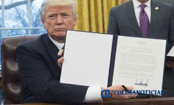 Trump firma la salida de EU del TPP