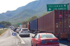 circulación parcialmente cerrada en autopista Colima-Manzanillo2