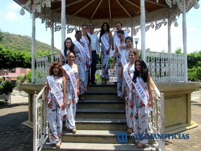 Candidatas de la Feria de Todos los Santos visitan el municipio de Armería
