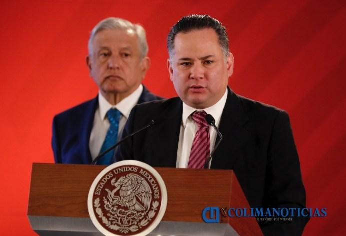 90221028. México, 21 Feb 2019 (Notimex- Arturo Monroy).- Santiago Nieto Castillo, destacó que con el apoyo de Pemex y el SAT se definieron una serie de objetivos, los cuales permitieron la generación de 20 acuerdos de bloqueo. En conferencia de prensa matutina desde Palacio Nacional, y en compañía del presidente Andrés Manuel López Obrador. NOTIMEX/FOTO/ARTURO MONROY/AMH/POL/