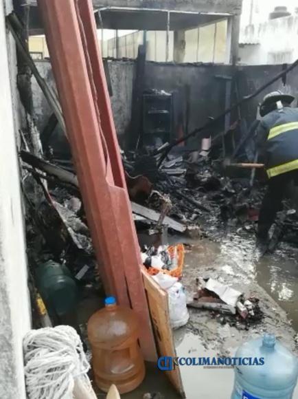 incendio casa mzllo - Incendio en casa habitación del Barrio 5