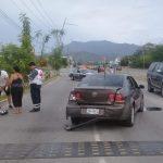 choque por alcance 150x150 - Se registra accidente por alcance en avenida Elías Zamora