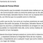 comunicado ayto armeria 150x150 - Los problemas familiares se arreglan en casa: Alcalde de Armería