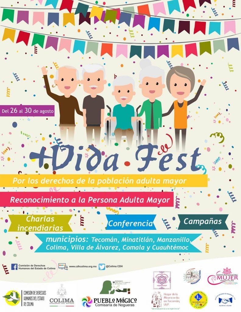 FESTIVAL 791x1024 - Invita CDHEC al 'Vida Fest: Por los Derechos de la población adulta mayor'