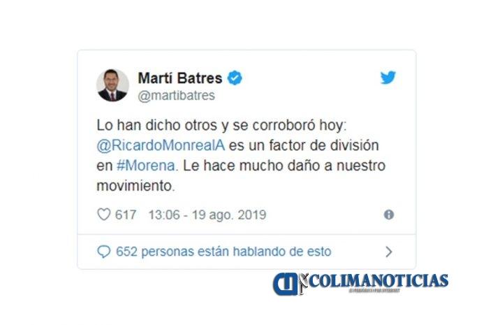 Martí Batres truena contra Monreal por elección de Mesa Directiva del Senado 696x465 - Batres acusa a Monreal de ensuciar el proceso interno de Morena