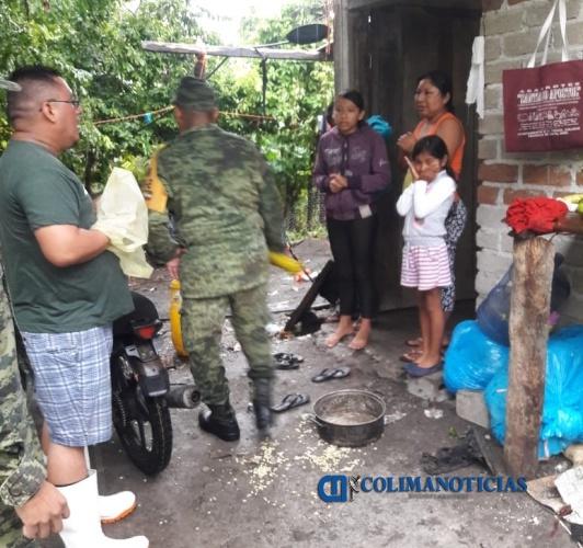 evacúan por lluvia - Evacuan a personas de Cerro de Ortega