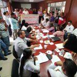 sindicalizados en Armería 150x150 - Sindicalizados de Armería se manifiestan por incremento salarial del 6%