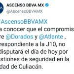 suspenden partido 1  150x150 - Balaceras en Culiacán obligan a suspender partido Dorados contra Atlante