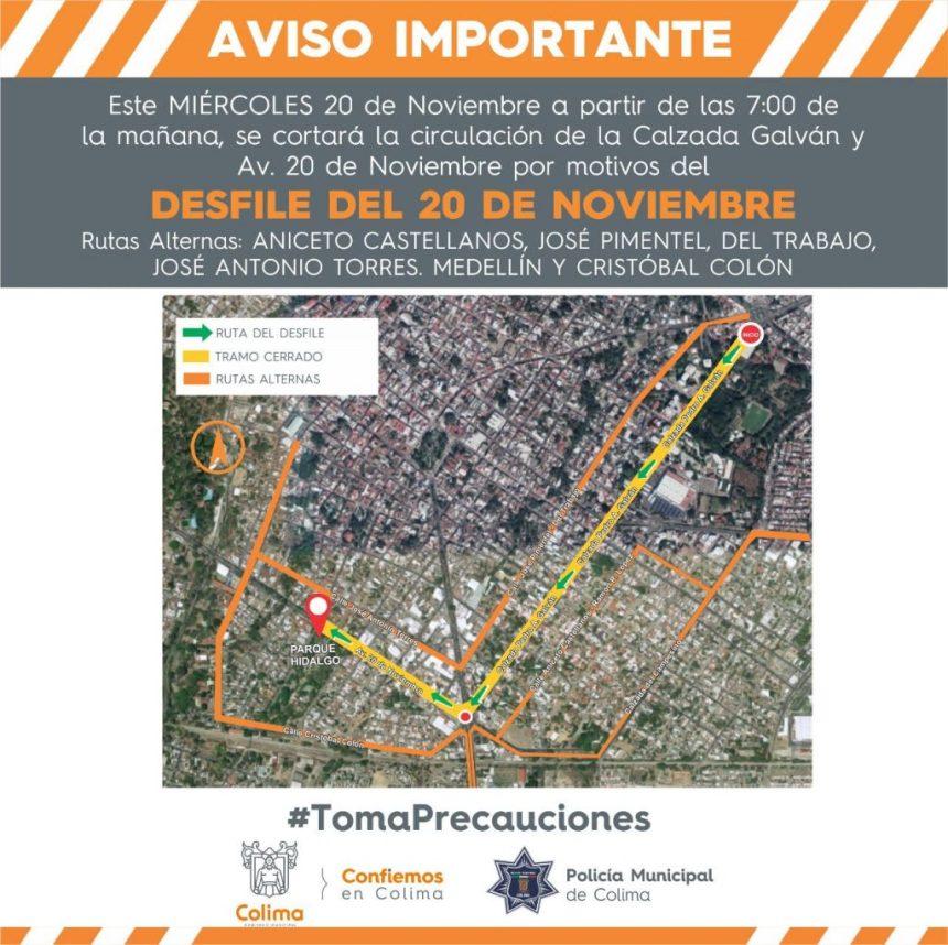 Operativo vial desfile 20 de noviembre 1024x1022 - Recolección de basura en la capital se llevará a cabo de manera habitual en día no hábil