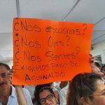 Trabajadores del STJE bloquean edificio en reclamo de pago de aguinaldos 150x150 - Trabajadores del STJE bloquean edificio en reclamo de pago de aguinaldos