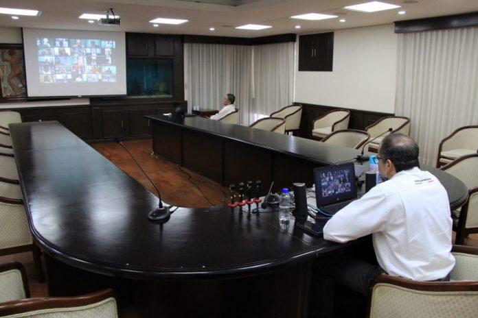 JIPS Videoconferencia 3 696x464 - Gobernador pide a Gobierno Federal apoyos para empresas de #Colima ante #Covid19
