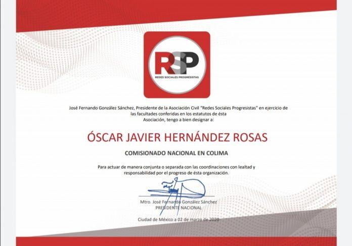 Redes Sociales Progresistas Colima 696x486 - Oscar J. Hernández Rosas Comisionado Nacional en Redes Sociales Progresistas en Colima - #Noticias