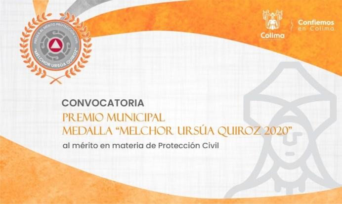 Lanzan convocatoria para medalla 'Melchor Ursúa Quiroz 2020'