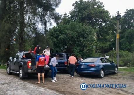 Zona norte de Comala registra gran afluencia turística el fin de semana, pero sin cubrebocas ni sana distancia