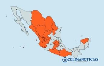 Colima se mantiene en semáforo naranja