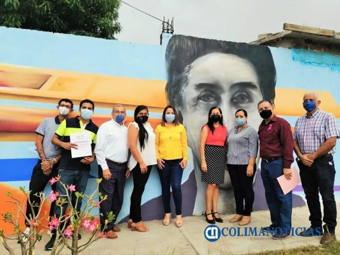 Devela IEE Colima mural y placa por el 67 aniversario del voto de las mujeres en México
