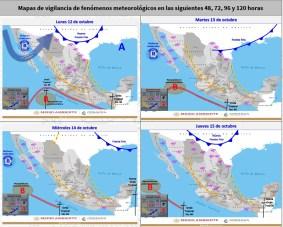 Se pronostican fuertes lluvias en Colima, Jalisco, Michoacán