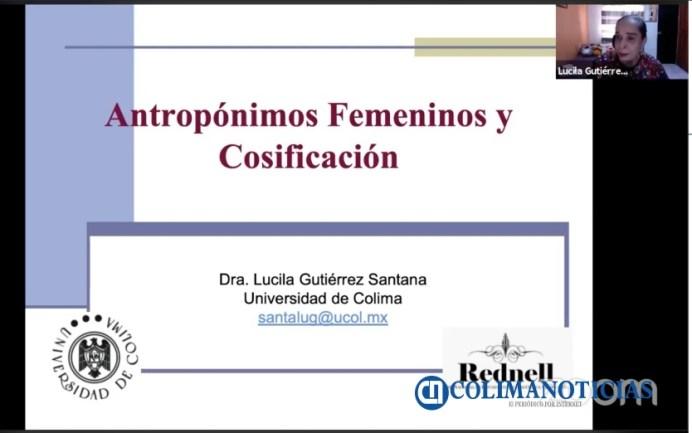Conferencia de Lucila Gutiérrez sobre origen de los nombres