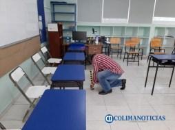 Llevan a cabo limpieza y sanitización de los espacios donde se instalarán mesas directivas de casilla 22