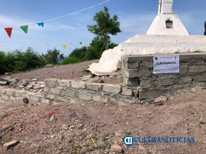 Clausuran obra de la explanada del Cerro de la Cruz en Manzanillo