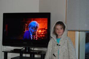 Fiona watching Frozen