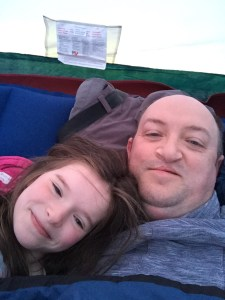 Fiona and me in the Tent, Uig, Skye
