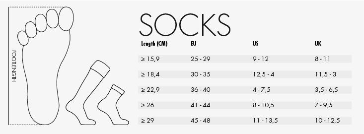 reece socks size guide