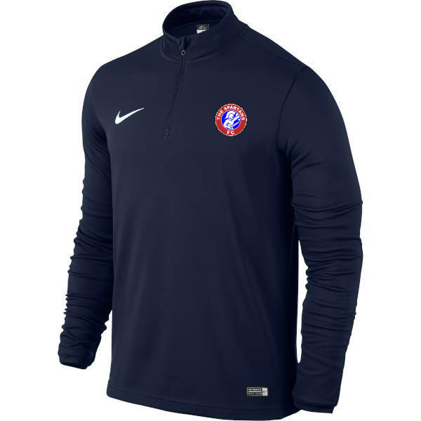 spartans half zip badge