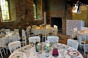 Set up for Wedding Breakfast at Crook Hall, Durham