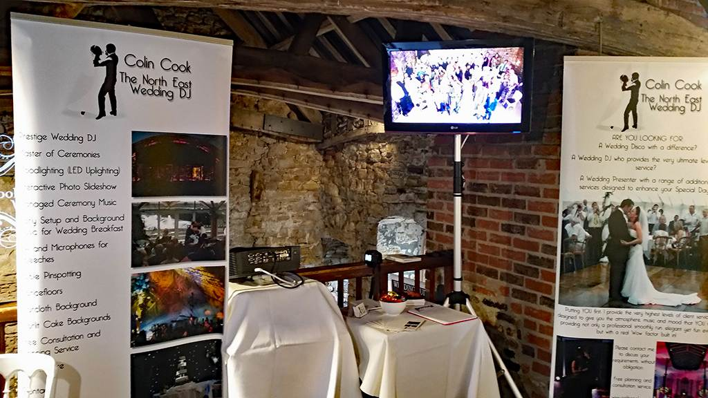 Crook Hall Wedding Fair. Recommended Master of Ceremonies, DJ and Event Lighting