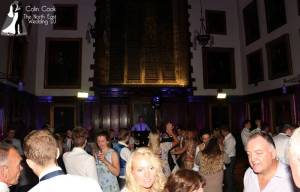 Packed Dance floor at a great Durham Castle Wedding Reception Disco by recommended Wedding DJ Colin Cook