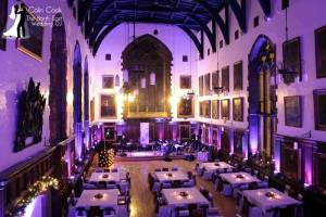 Working with a band for another amazing Durham Castle Wedding. Uplighting again in Purple. Wedding DJ and Master of Ceremonies