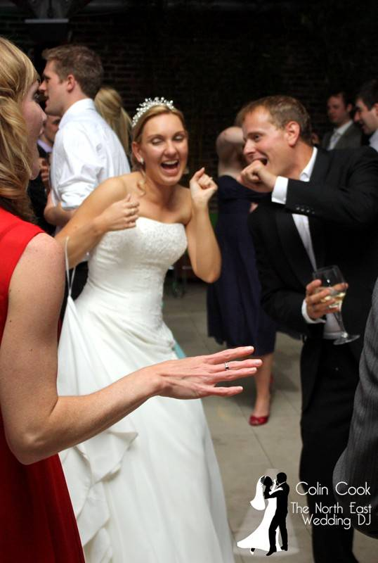 Dancing and fun at a Wedding Disco at Alnwick Garden