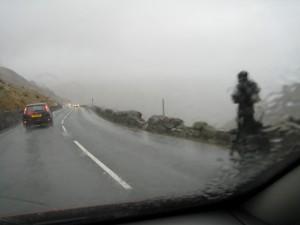 Llanberis Pass in the rain 2009