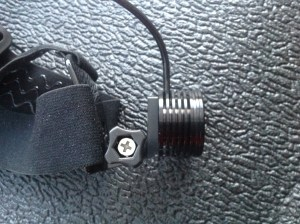 Go-Pro mount right side showing thumbwheel adjuster