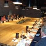 Huge, and hugely impressive - the tasting table at Bodegas Marqués de Murrieta!