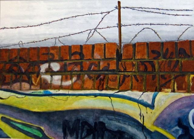 Barbed Wire & Grafitti (Thames Path series)