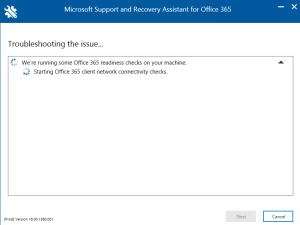 Office 365 - Microsoft Support and Recover Assistant Tool