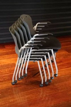 Stacking caster chairs