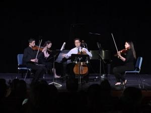 The Mozart Piano Quartet during one of our recitals