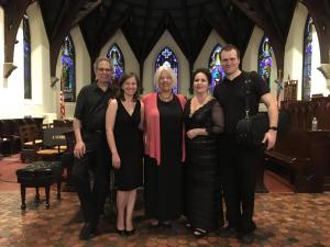 After the stunning first faculty recital: Jerry Grossman, Elena Lacheva, Kathleen Kelly, Korliss Uecker, and Eric Olson