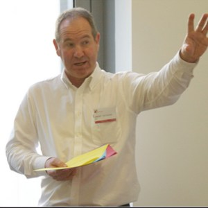 Grant Hayward speaking at the Emerge Conference in Oxford