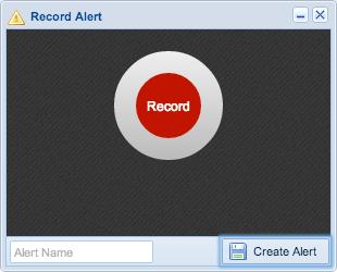 Screenshot: Record Alert