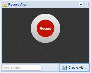 Screenshot: Record Alert